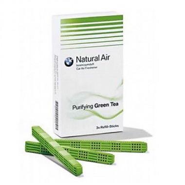 """Освежитель воздуха BMW сменный блок """" Purifying Green Tea"""" BMW 83122285674, зеленый."""